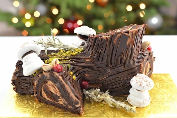 dessert-zu-weihnachten-buche-de-noel-einfaches-dessert-mit-kakao-und-schokolade