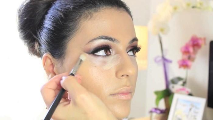 dezent-schminken-make-up-fuer-braut-augen-wangenknochen-basis-schoene-braut