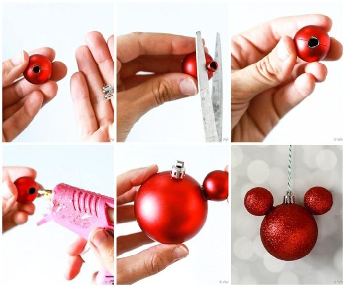disney mickey mouse ornament weihnachten basteln mit kindern weihnachtsdeko basteln ideen und inspiration