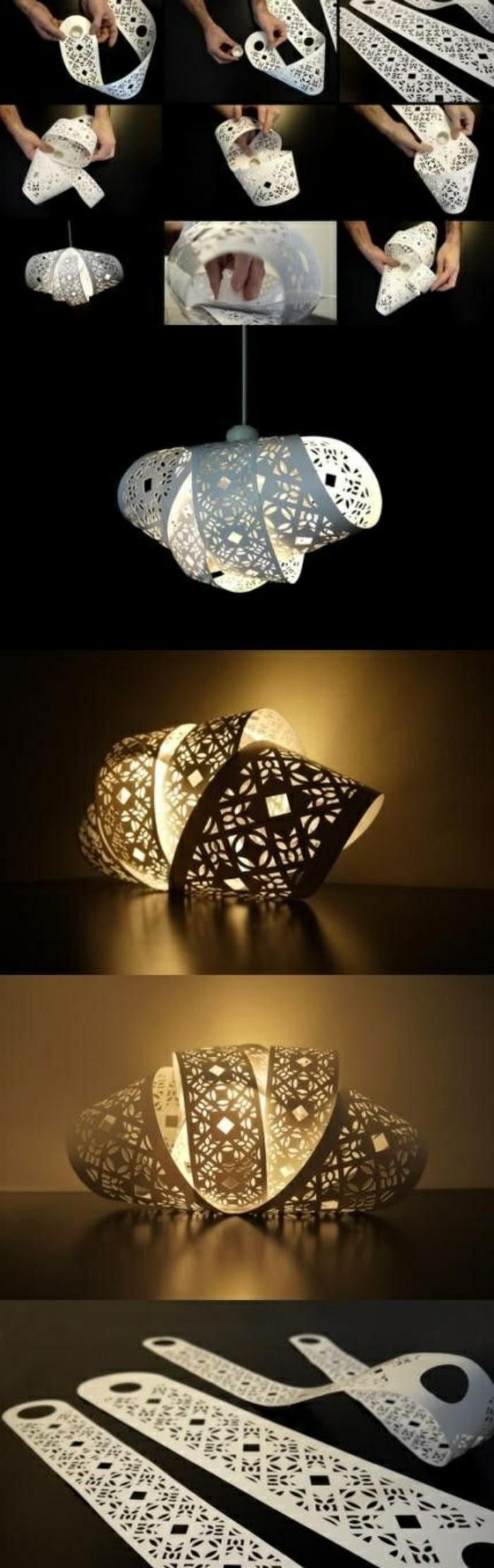 Diy lampe 76 super coole bastelideen dazu - Papierlampe selber machen ...