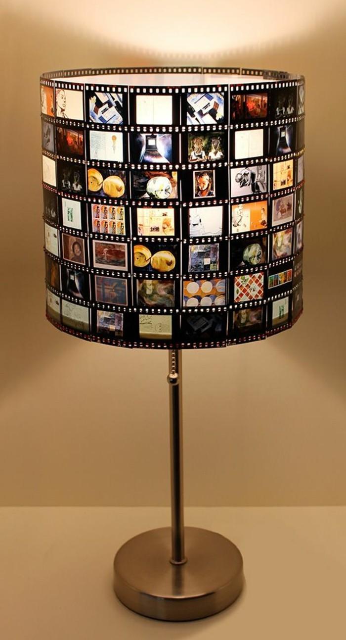 diy-lampe-lampenschirm-mit-fotos-verschonen-stehelampe