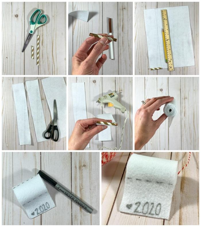 diy schritt für schritt anleitung klopapier weihnachtsdekoration bastelideen für weihnachten zum verschenken kreative bastelideen