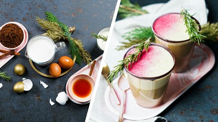 eggnog selber machen archzine leckeres getränk mit eiern milch kokoscreme und muscovado zucker