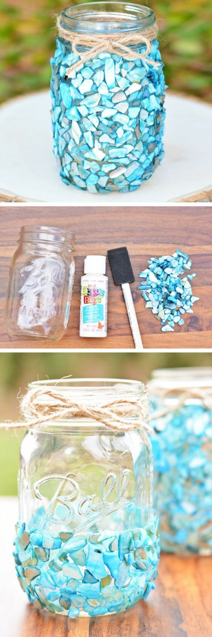 einfache-bastelideen-glaeser-mit-blauen-kristallen-dekorieren