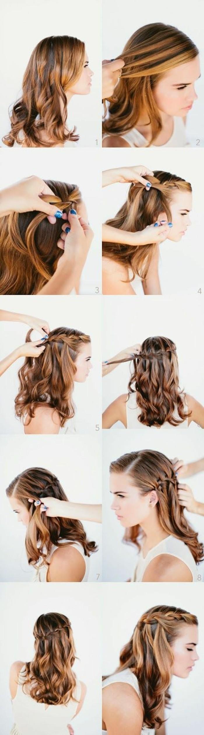 einfache-frisuren-mittellange-lockige-haare-frisieren-haarfrisur-selber-machen
