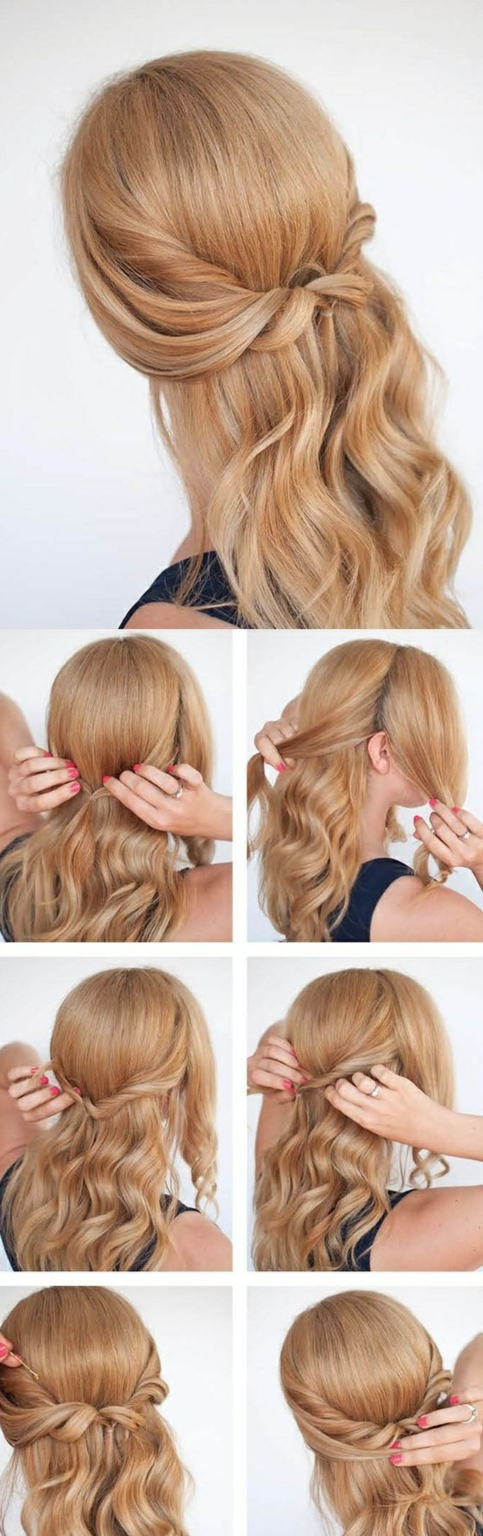 einfache-frisuren-schulterlange-blonde-lockige-haare-frisur-selber-machen