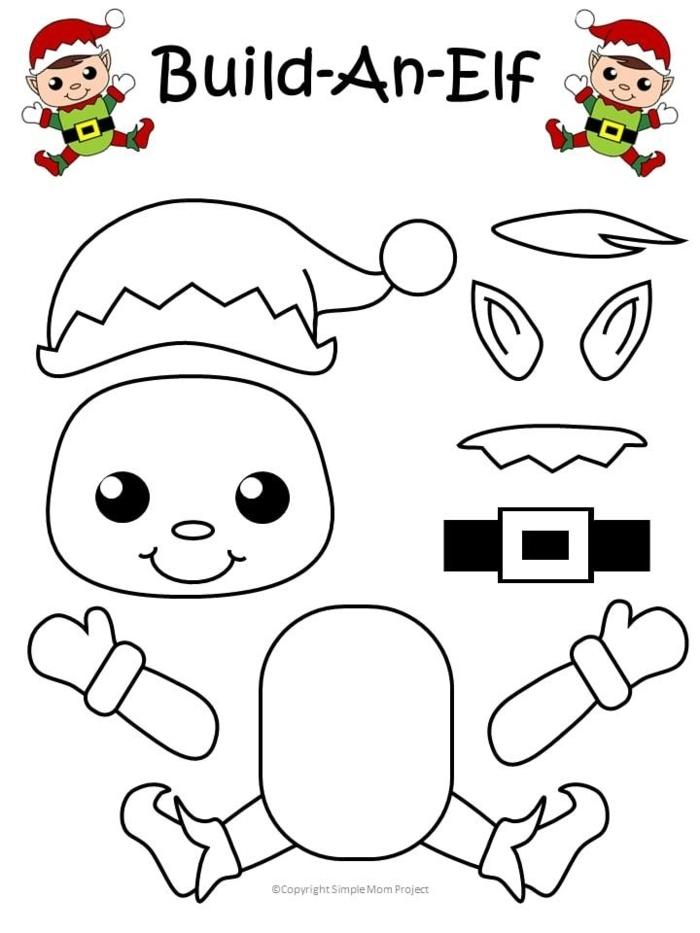 elf basteln diy ideen weihnachtsbasteln mit kindern vorlagen weihnachtsdekoration selber machen bastelideen