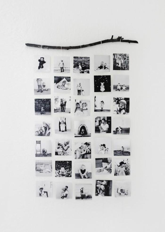 fotowand-ideen-ast-schwarz-weise-fotos-collage-weise-wand