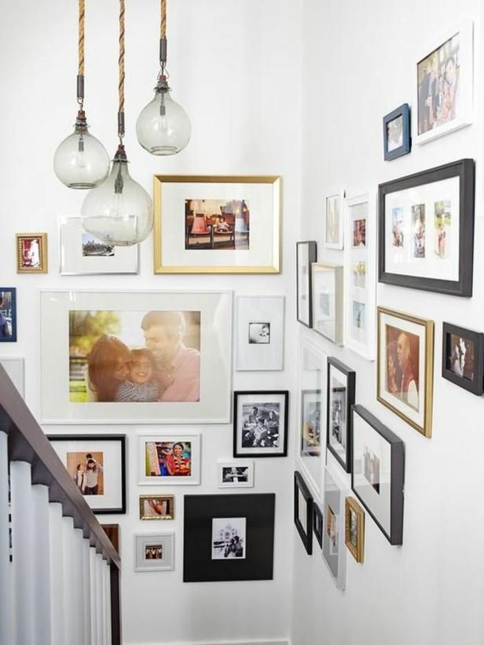fotowand-ideen-familienfotos-lampen-treppe-weise-wande