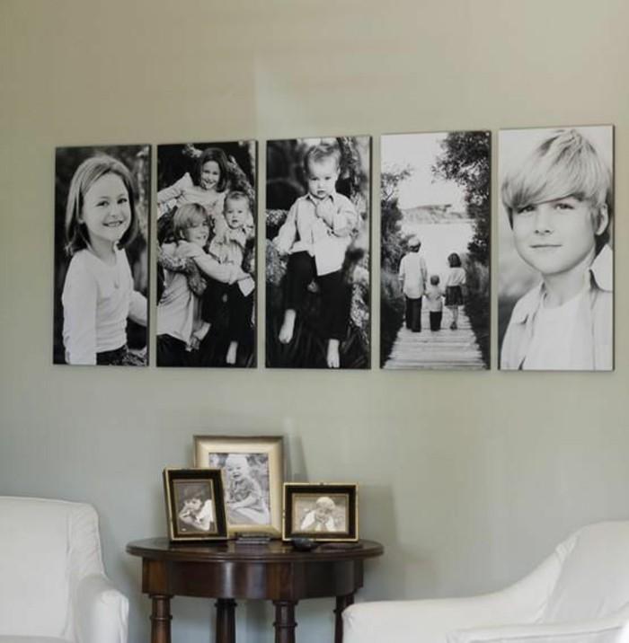Fotowand selber machen 66 wundersch ne ideen und - Cuadros con fotos familiares ...