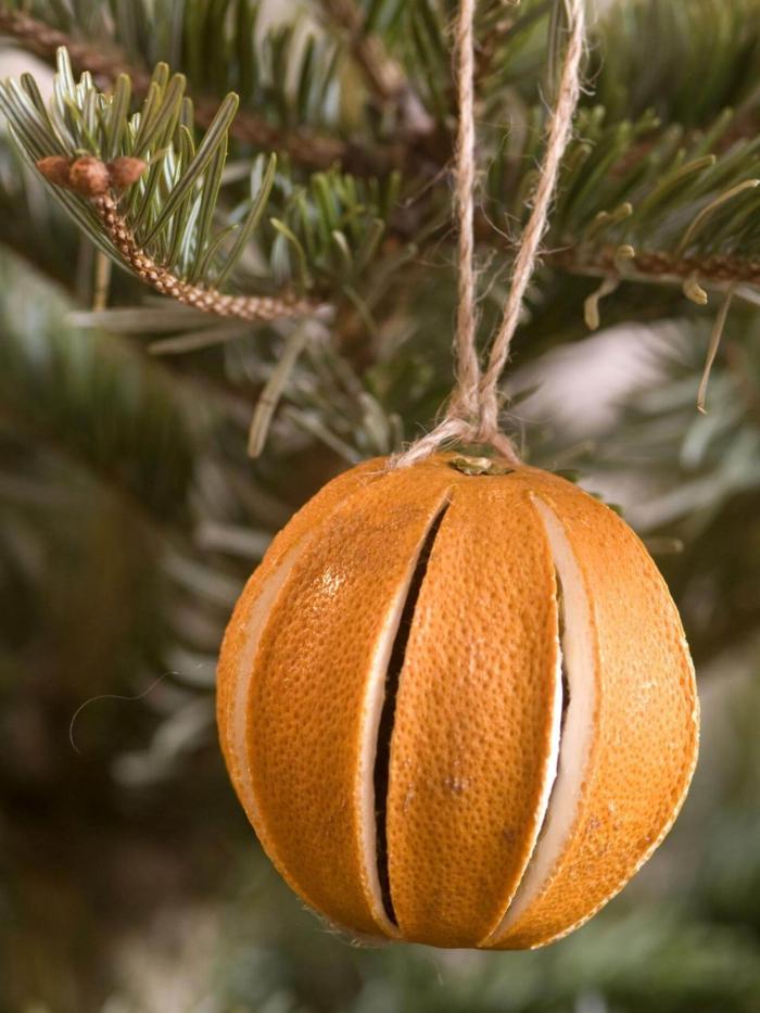 kreative ornamente tannenbaumschmuck diy mit orangen weihnachtsdeko basteln anleitung schritt für schritt