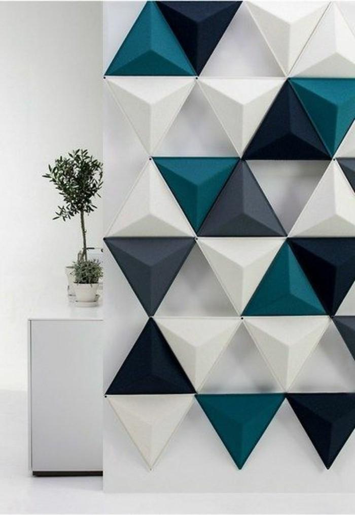 kreative-wandgestaltung-3d-wandpaneele-grune-pflanze-blumentopf-weiser-schrank