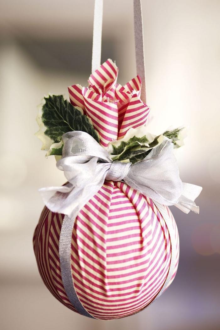 kuss kugel weihnachten dekoration weihnachtsbaumschmuck basteln diy ideen inspiration weihnachtsdekoration selber machen