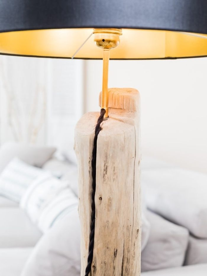 lampe aus treibholz selber machen selbstgebaute holzlampe diy ideen für zuhause