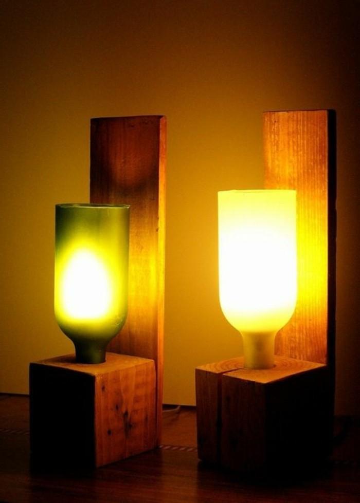 lampe-basteln-aus-holz-weinflaschen-beleuchtung-wand