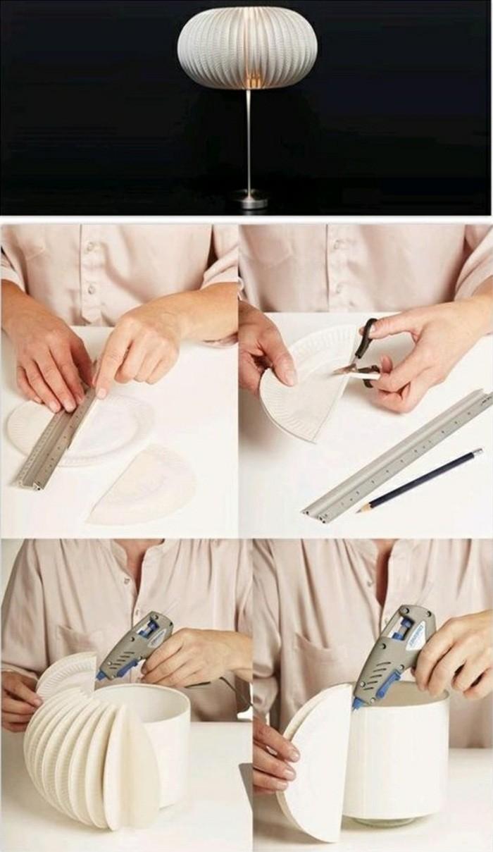 lampenschirm-basteln-aus-papiertellern-bleistift-schere