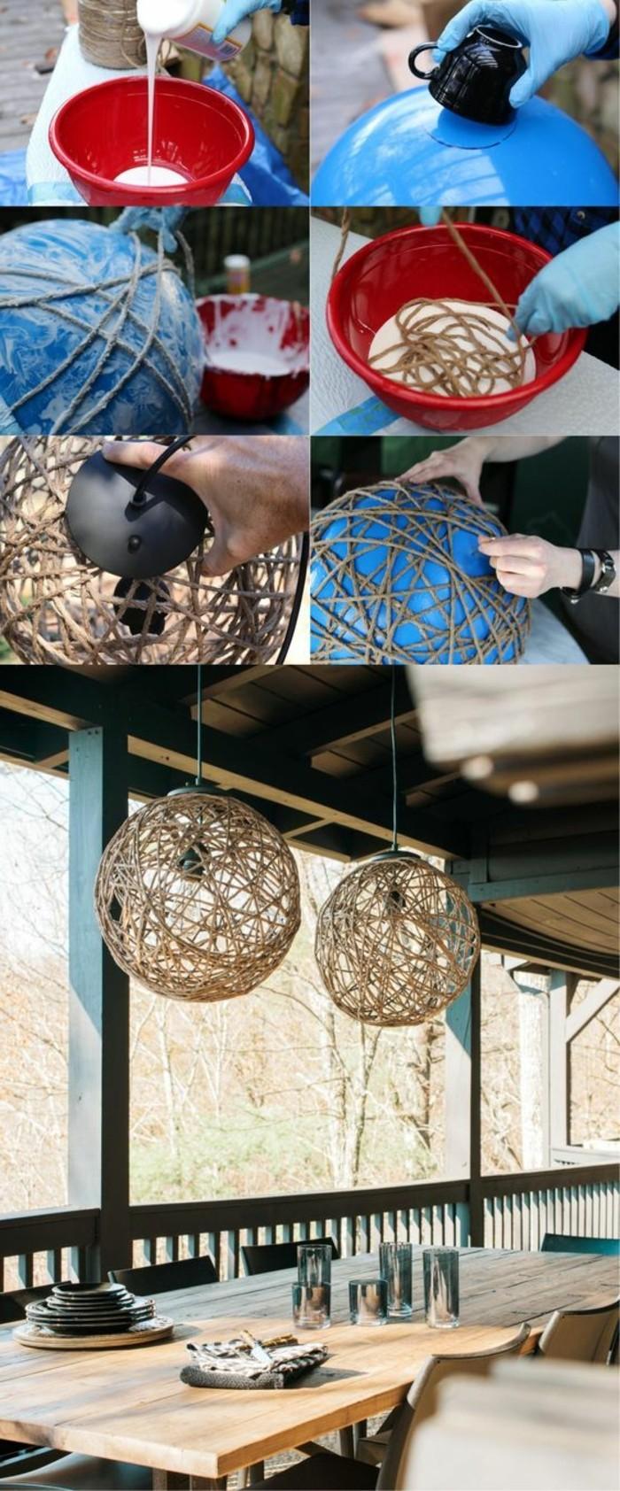 lampenschirm-basteln-balon-seile-kleber-handschuhe-tische