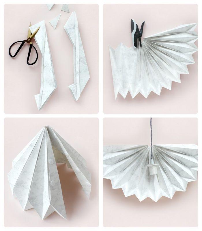 lampenschirm selber machen aus papier origami lampe basteln schritt für schritt origamischirm bastelideen diy