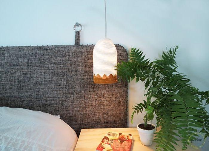 lampenschirm selber machen diy lampe aus plastikflasche und seil selbstgemachte wohnzimmerdeko