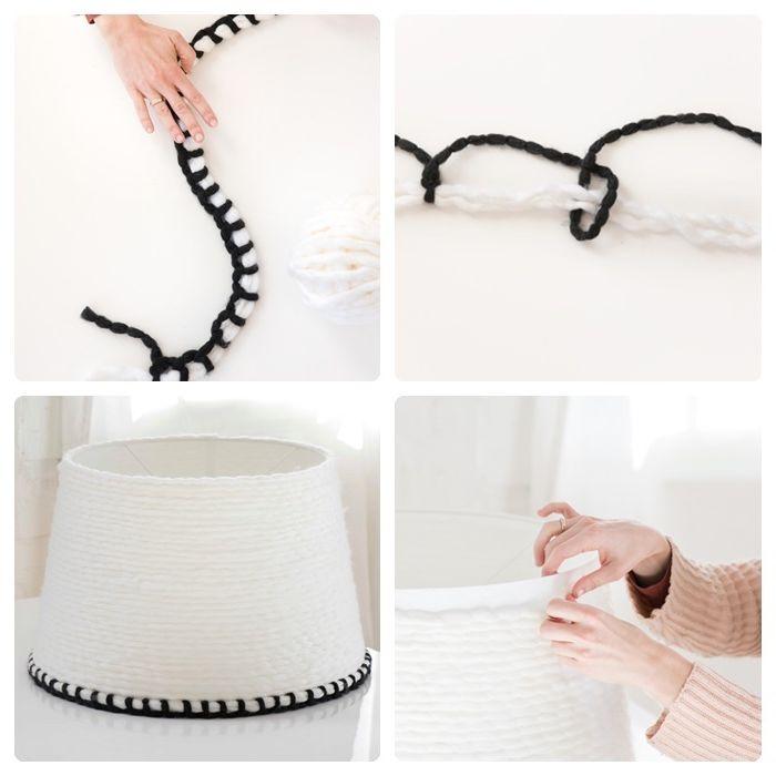 lampenschirm selber machen einfach und schnell lampe aus weißem weil diy deko für zuhause