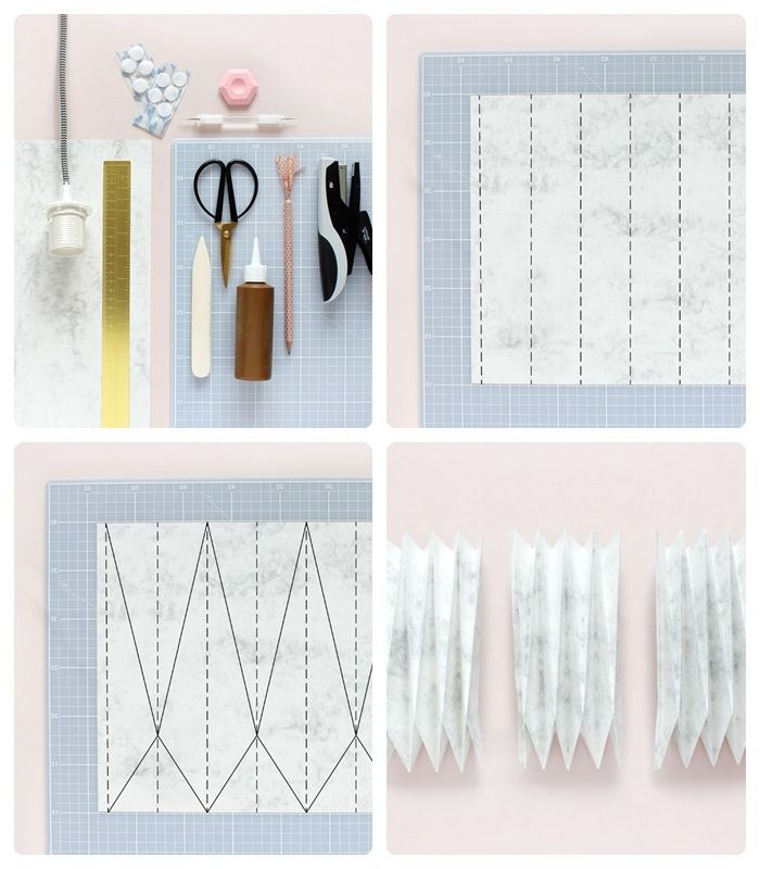 lampenschirm selber machen origami lampe anleitung schritt für schritt bastelideen mit papier papierschirm papierlampe