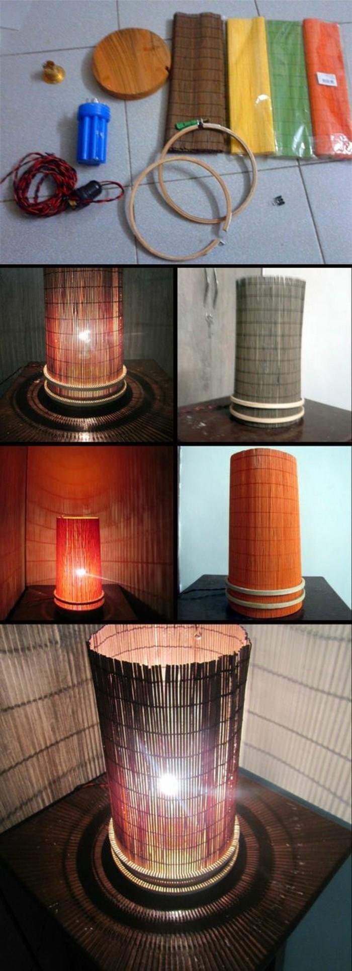 lmpenschirm-selber-machen-seil-licht-essunterlagen-tisch