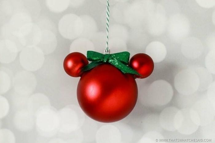 mickey mouse minnie mouse weihnachtsornamente selber machen basteln mit kindern weihnachten und winter diy anleitung schritt für schritt