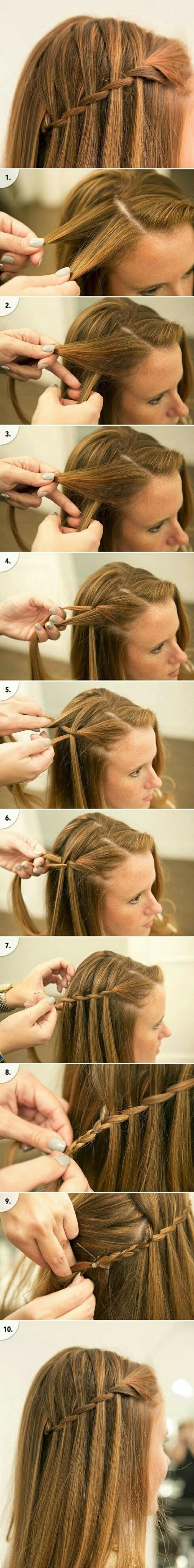 mittellange-frisuren-glatte-haare-zopf-frisur-selber-machen