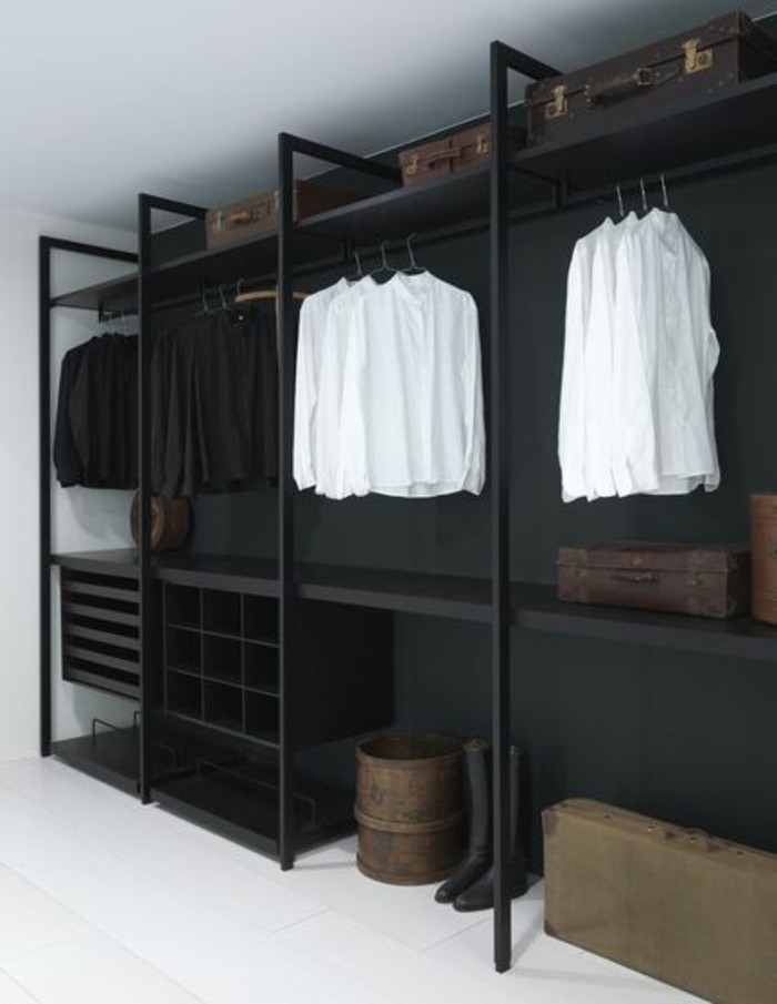1001 ideen f r offener kleiderschrank tolle wohnideen. Black Bedroom Furniture Sets. Home Design Ideas