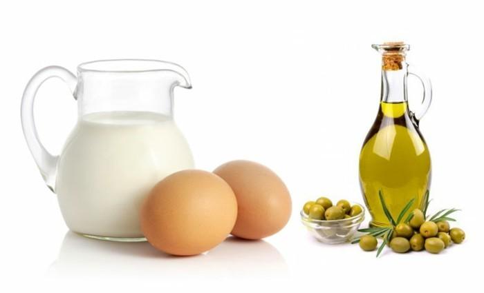 olivenoel-haarkur-mit-eiern-und-milch-gegen-haarausfall