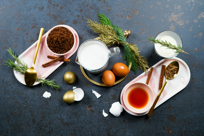 rezepte zu weihnachten weihnachtliches getränk eggnog selber machen archzine