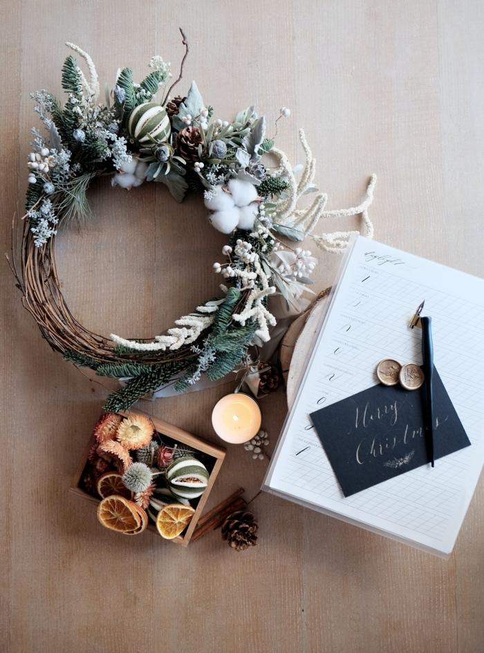 schönrer weihnachtskranz aus zweigen basteln mit kindern weihnachten und winter festliche dekoration