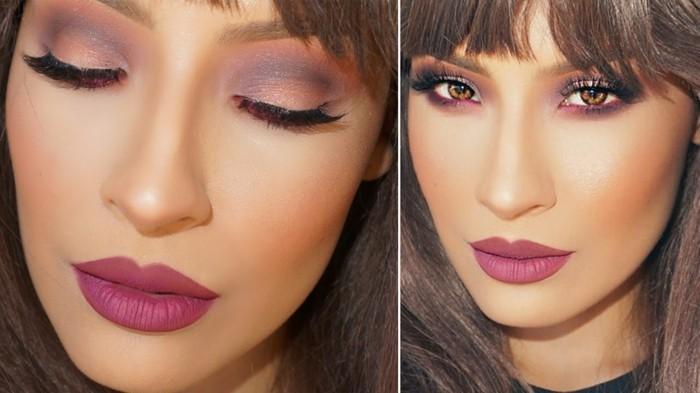 schminken-silvester-festlich-rot-rosa-lila-mischung-farben-pony