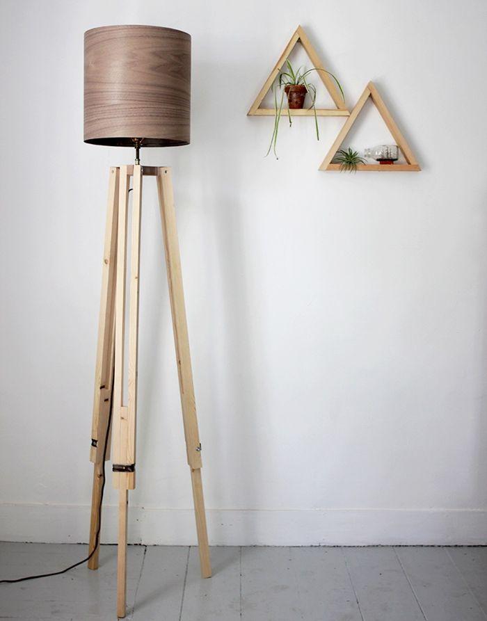 stahlampe selber bauen lampe aus holz holzlampe wohnungsdeko wohnung dekorieren selbstgemachte deko