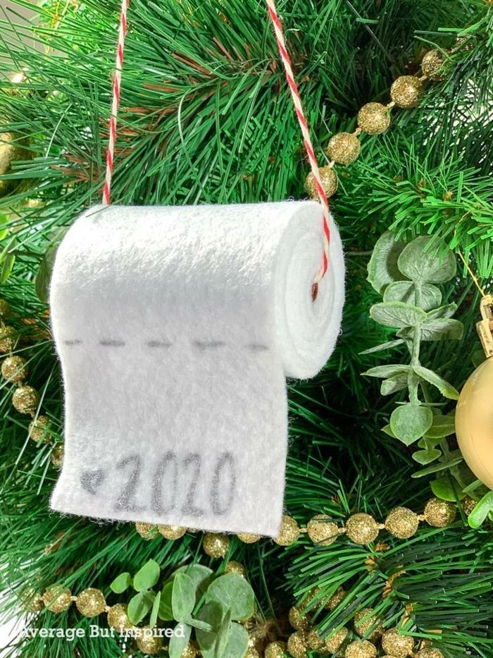 toilettenpapier oranement weihnachten originelle bastelideen winterdeko basteln weihnachtsbaum ornament selber machen