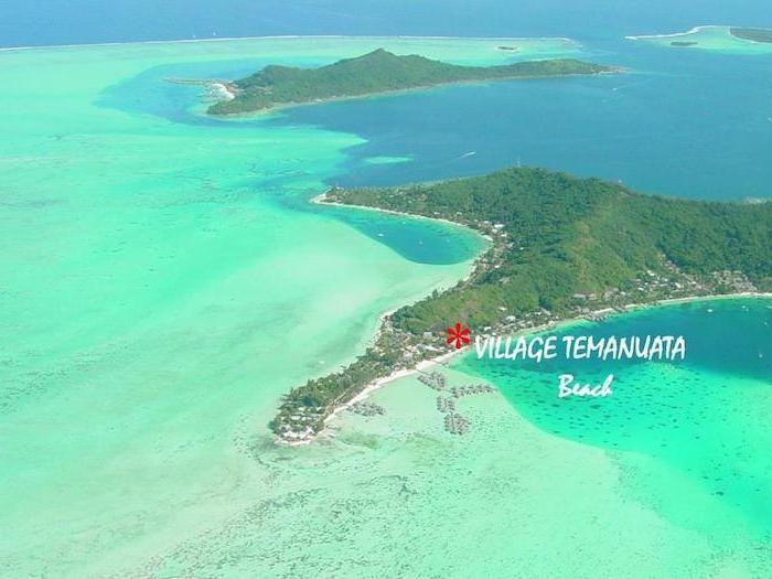 hotels in bora bora französisch-polynesien insel hotels zur aufenthalt auf der insel bild von oben strand hotel mit privatstrand günstige hotels auf bora bora