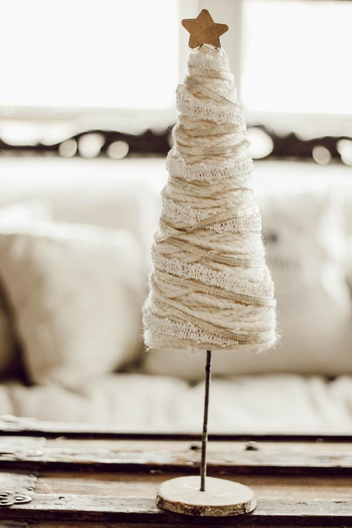 weißen weihnachtsbaum minimalistische bastelideen weihnachten weihnachtsbastelideen inspiration