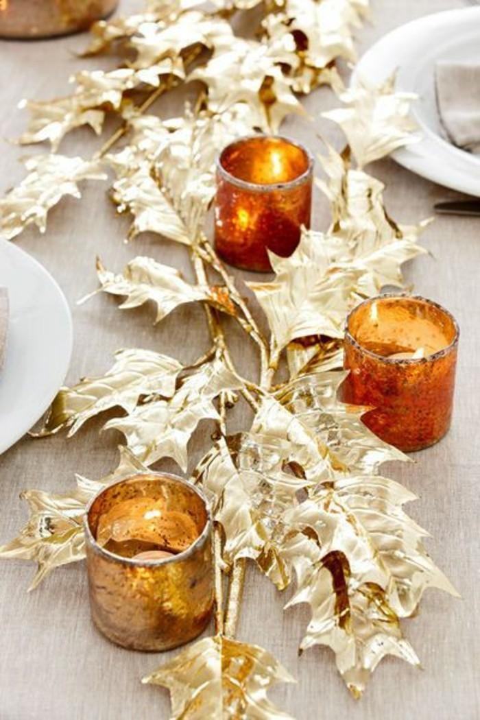 weihanchtsdeko-selbstgemacht-goldene-blatter-kerzenhalter-teller-weihnachten