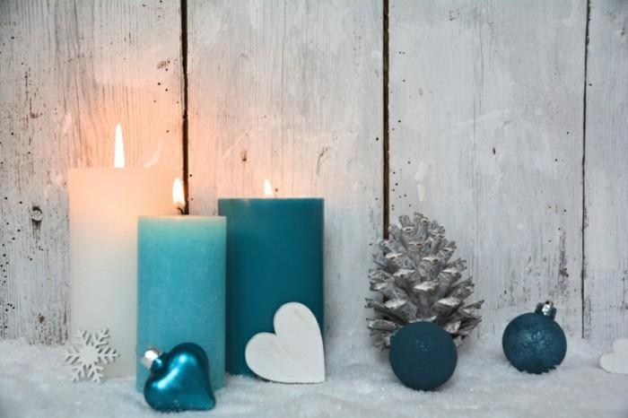 Weihnachtsdeko-Deko-Schneeflocke-Grukarte-Adventskerzen-Pastell-Türkis