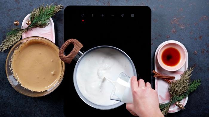 weihnachtliche rezepte geschlagene eigelbe mit zucker milch kokosmilch kokoscreme
