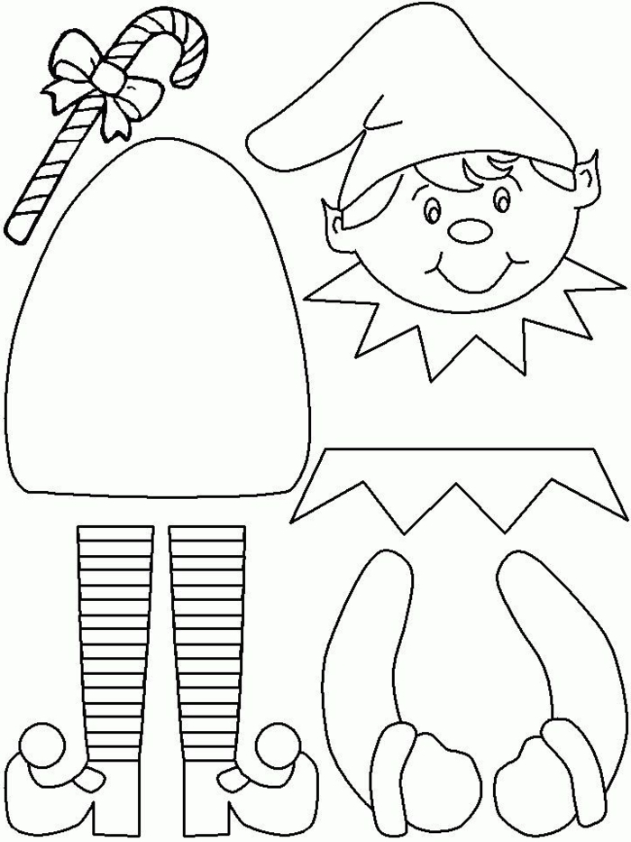 weihnachtsbasteln mit kindern vorlagen elf selber machen kreativen weihnachtsschmuck basteln