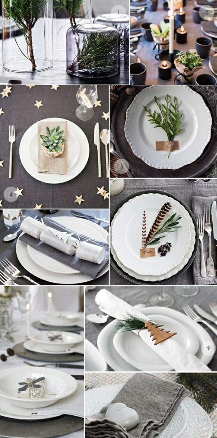 weihnachtsdeko-selber-machen-feder-weise-teller-zweigen-weise-servietten-graue-tischdecke