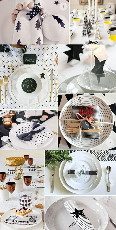 weihnachtsdeko-selber-machen-weise-teller-vogelbeeren-schwarze-dekorationen-servietten-in-schwarz-und-weis