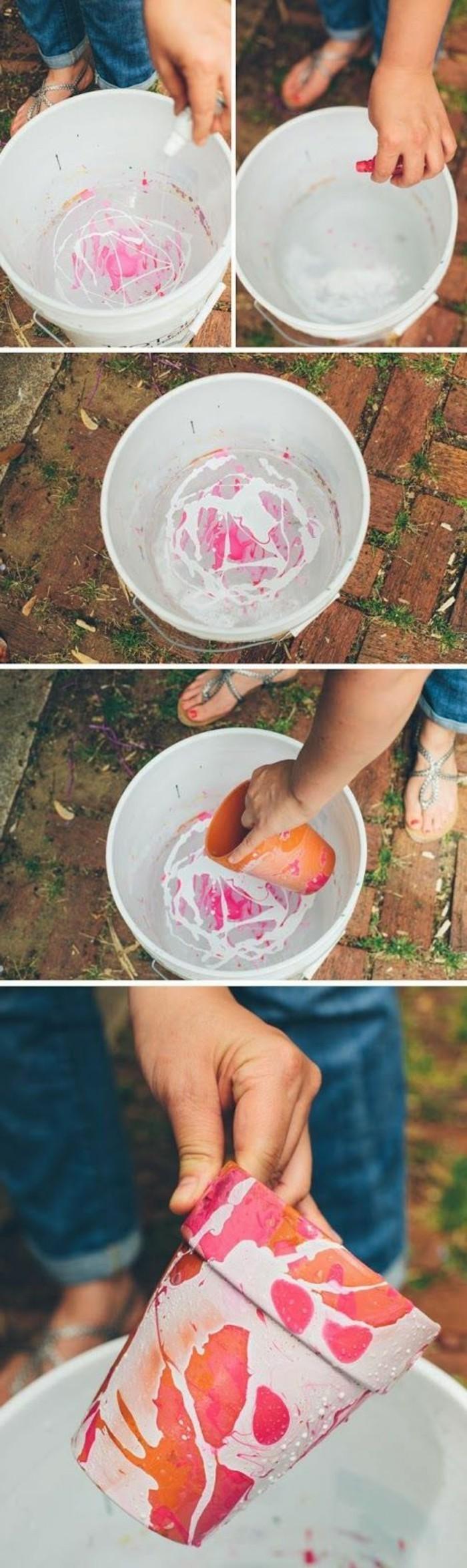 wohnideen-selber-machen-blumentopf-mit-nagellack-verzieren