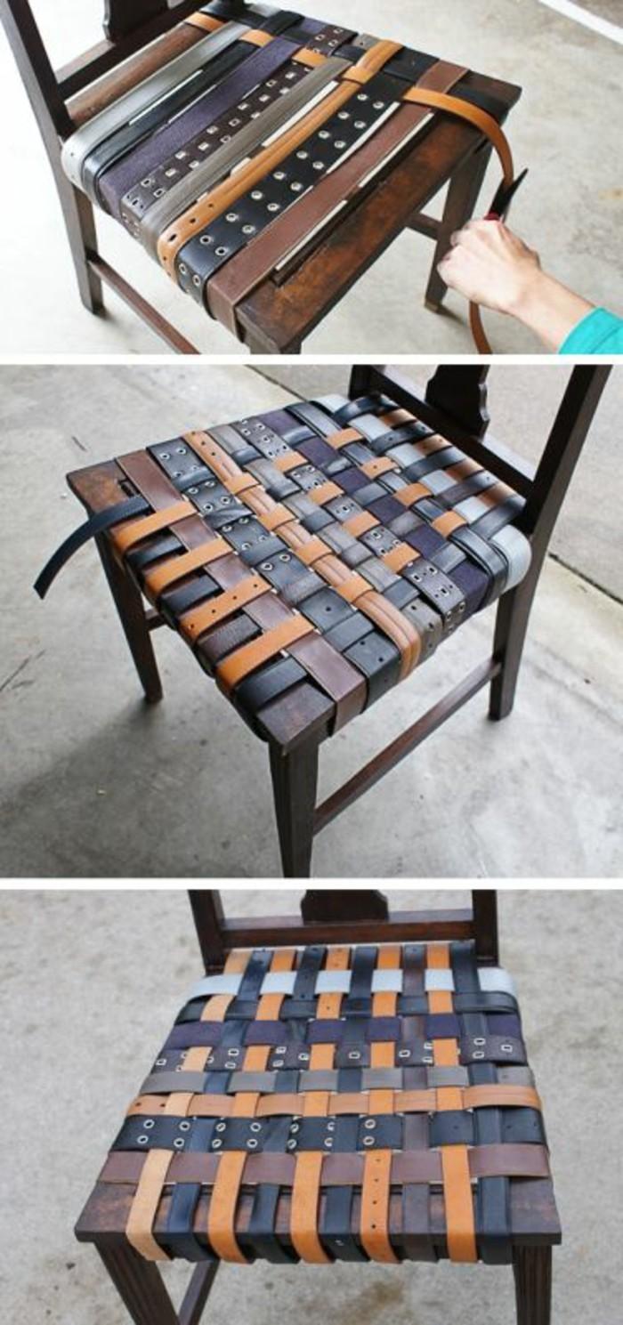 wohnideen-selber-machen-stuhl-mit-guerteln-gestalten