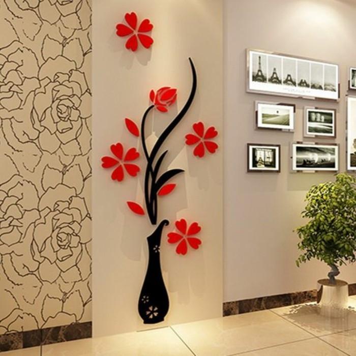 zimmer-dekorieren-3d-wanddekoration-blumen-grune-pflanze