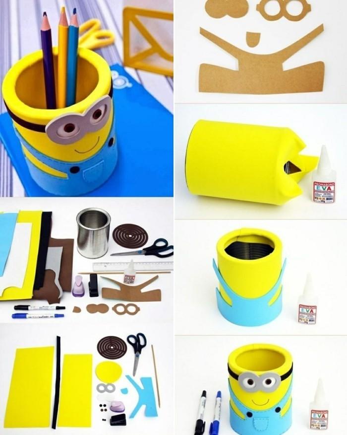 11-kreative-bastelideen-minion-konservendose-farbstifte-diy-schere-karton-papier