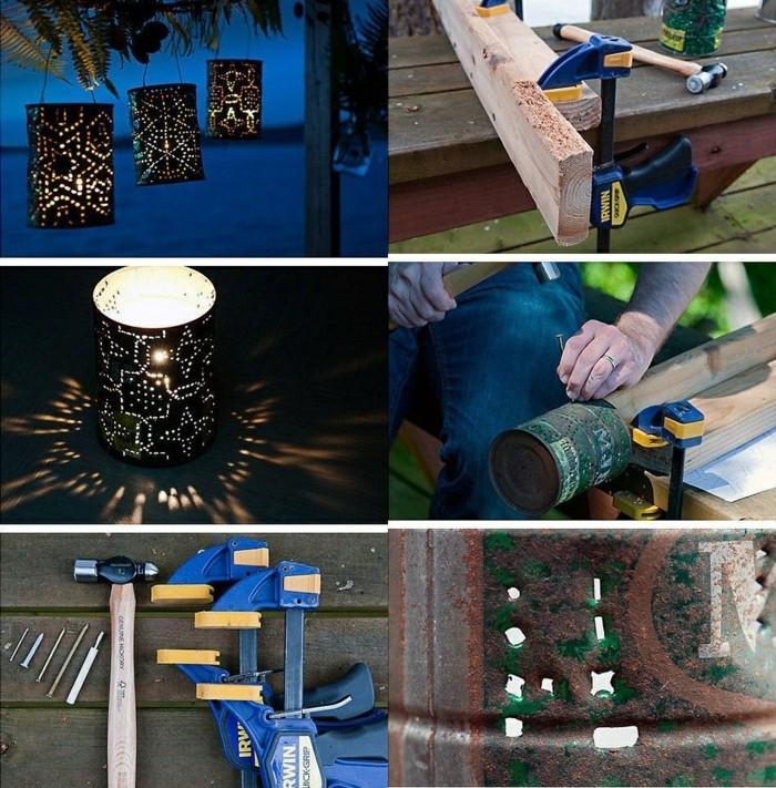 basteln mit konservendosen 61 tolle ideen daf r. Black Bedroom Furniture Sets. Home Design Ideas
