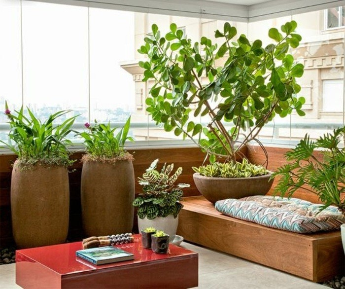 14-balkon-deko-grüne-pflanzen-große-blumentöpfe-roter-tisch-baum-buch