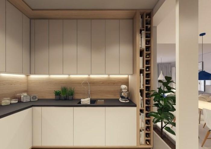 2-deko-tipps-küche-in-hellbraunmit-beleuchtung-waschbecken-viele-pflanzen